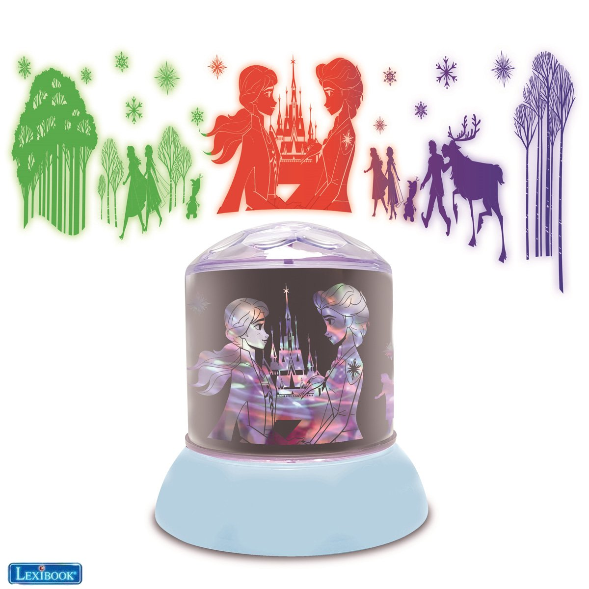Lexibook - Disney Frozen Ceiling Projector Rotative Night Light (NLJ030FZ)