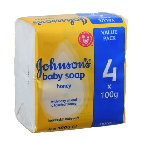 Johnsons Baby Tvål med Honung 4-pack