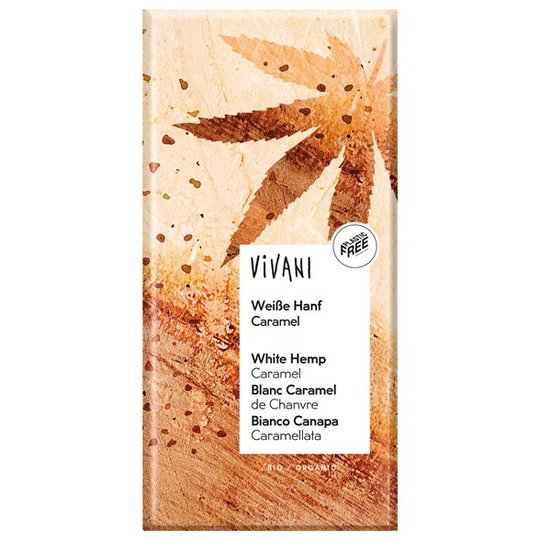 Vivani Ekologisk Vit Choklad med Hampa, Kola & Vanilj, 80 g
