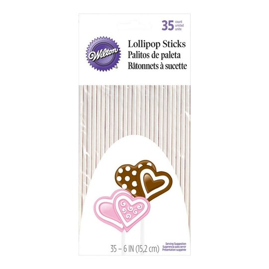 Wilton - Lollipop pinnar långa 35-pack