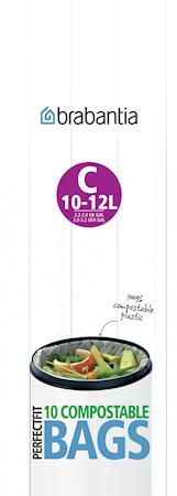 Miljøvennlig avfallspose C 10-12 L 10stk