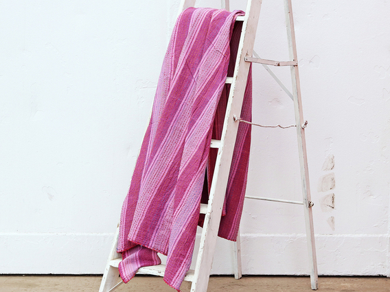 Purple Cotton Bed Cover - Single