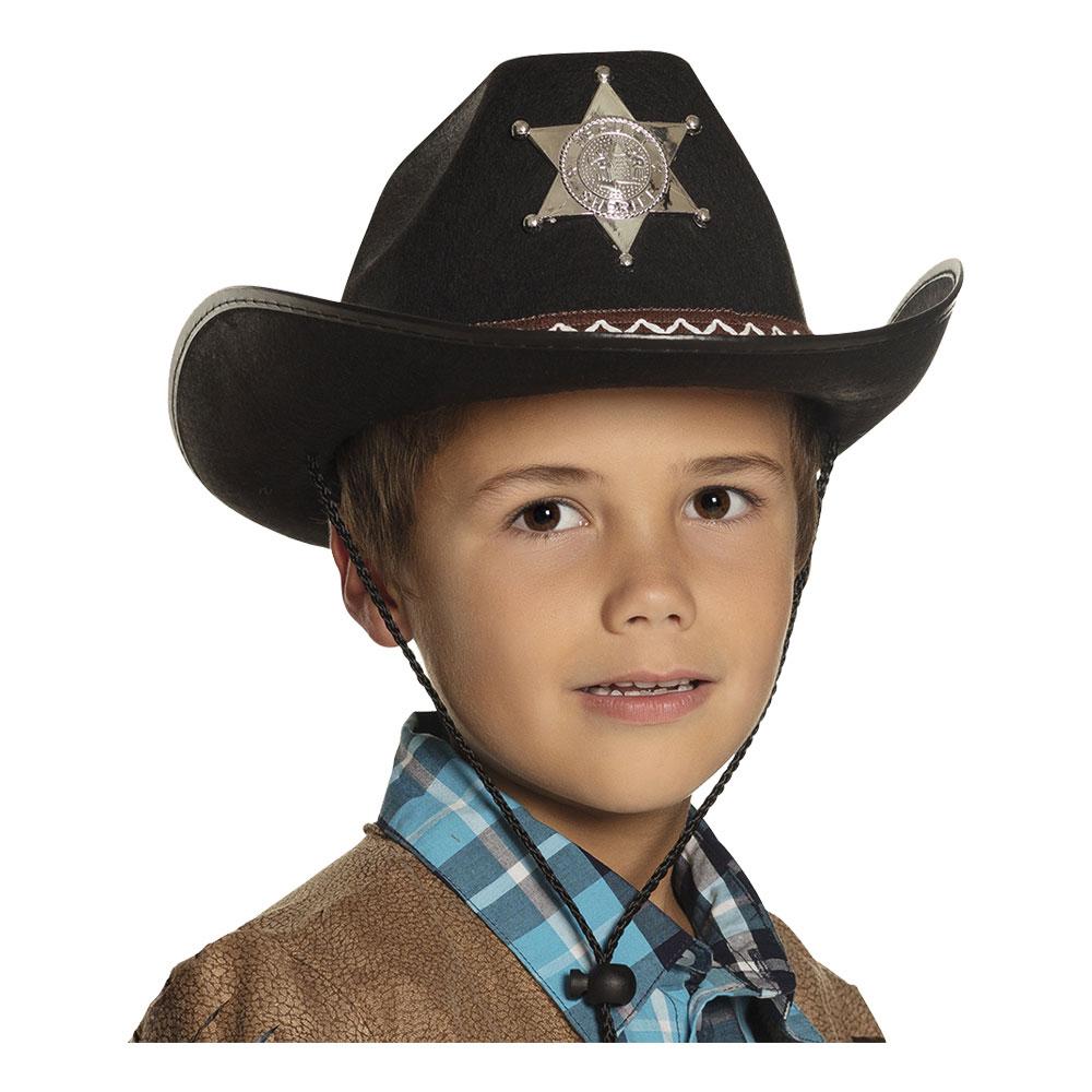Sheriffhatt Svart för Barn - One size