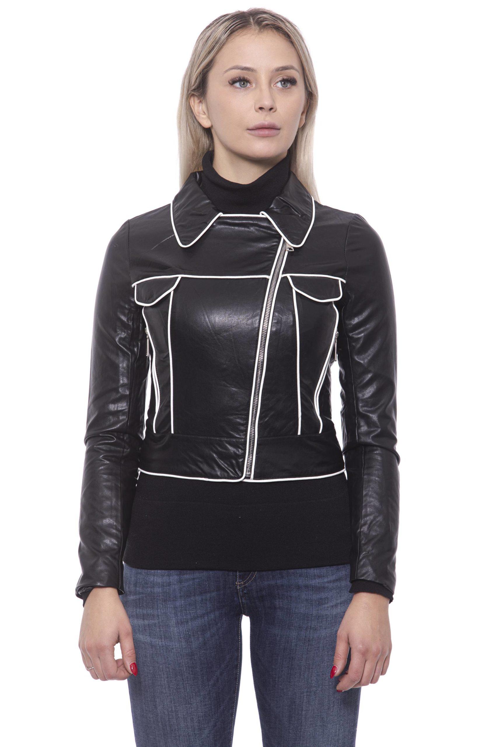19V69 Italia Women's Nero Jacket 191388428 - IT42   S