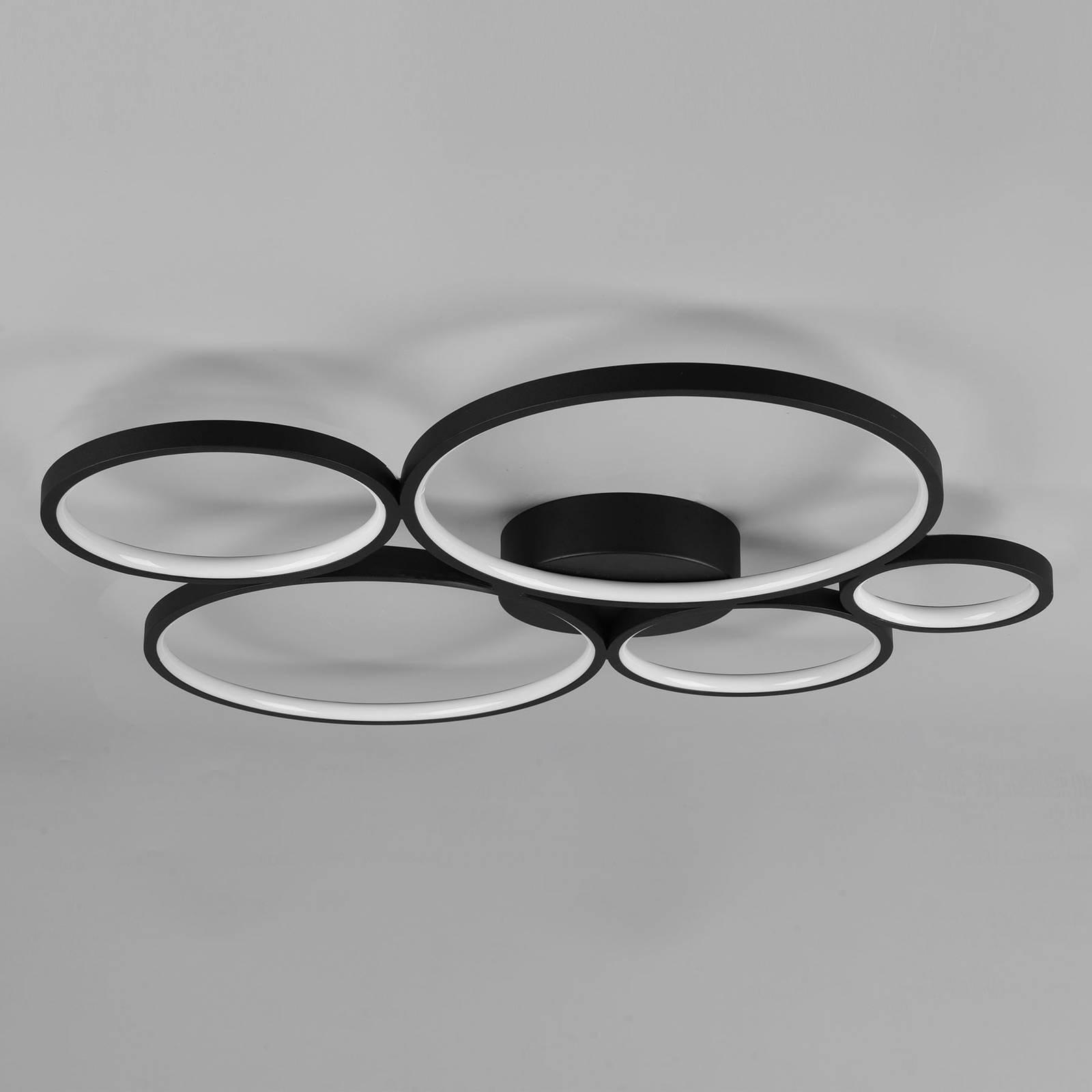 LED-kattovalaisin Rondo, matta musta