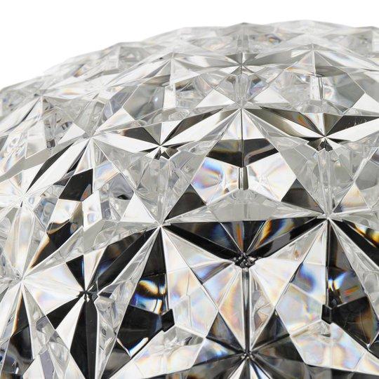 Kartell Planet LED-gulvlampe, 130 cm krystallklar