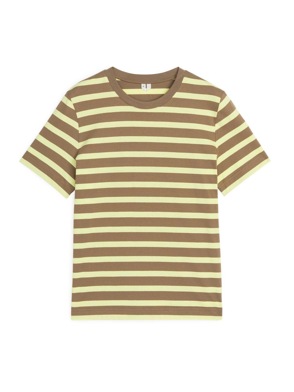 Crew-Neck Striped T-shirt - Yellow