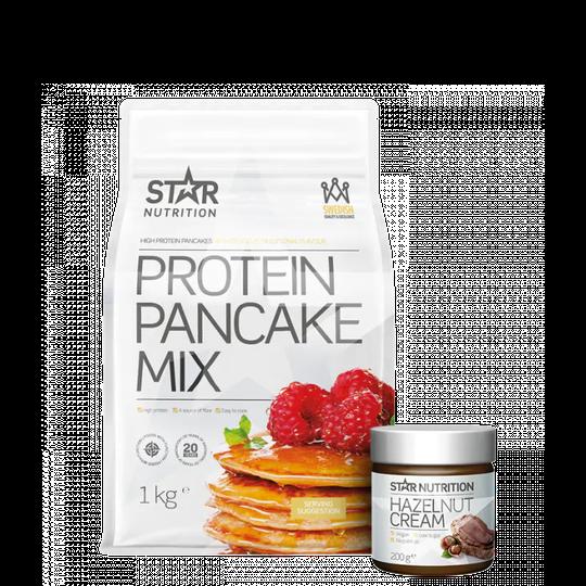 Protein Pancake mix, 1 kg + Protein Hazelnut Cream, 200 g