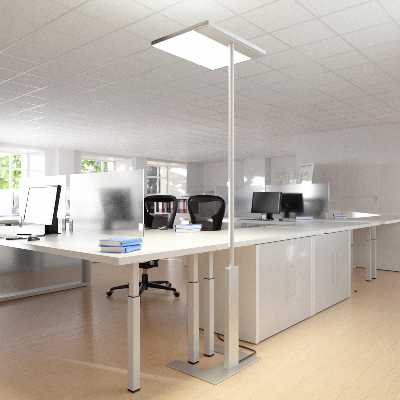 Grå gulvlampe til kontoret Linea-F med sensor