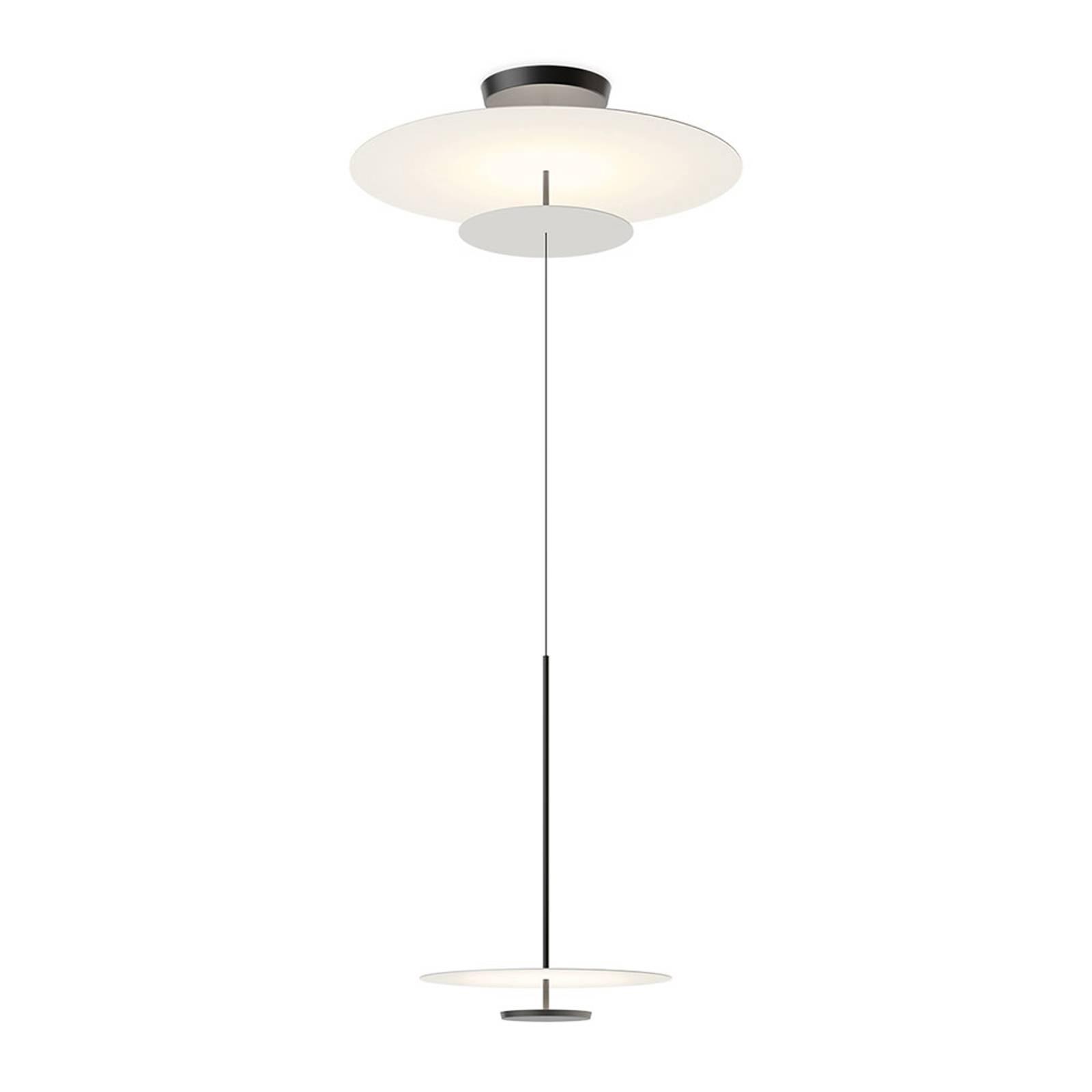 Vibia Flat -LED-riippuvalo Ø 90 cm harmaa L1