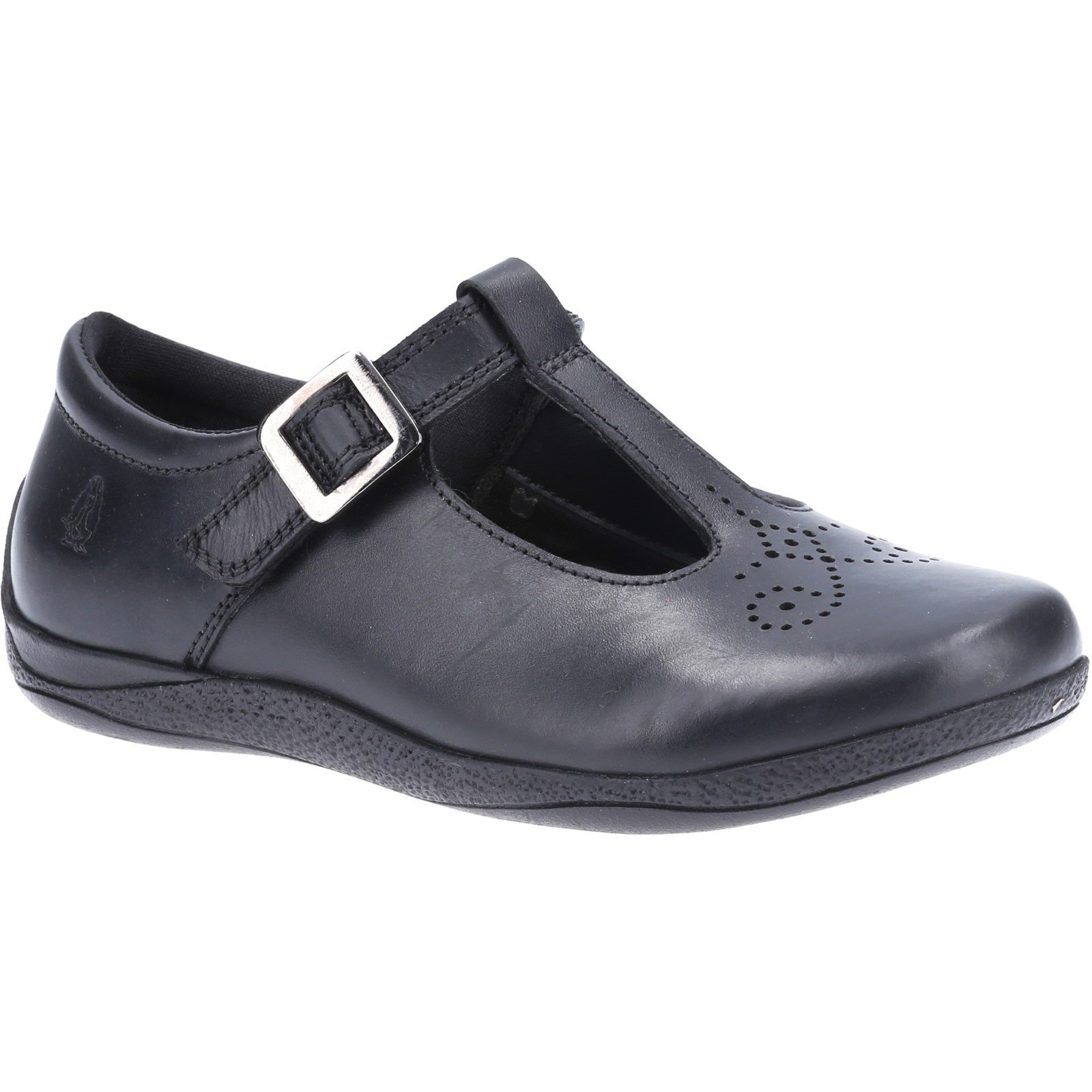 Hush Puppies Kid's Eliza Junior School Shoe Black 32589 - Black 11
