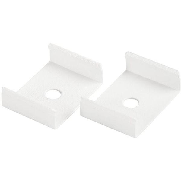 Hide-a-Lite 7504042 Festeklips til Art profiler, hvit, 2-pakk