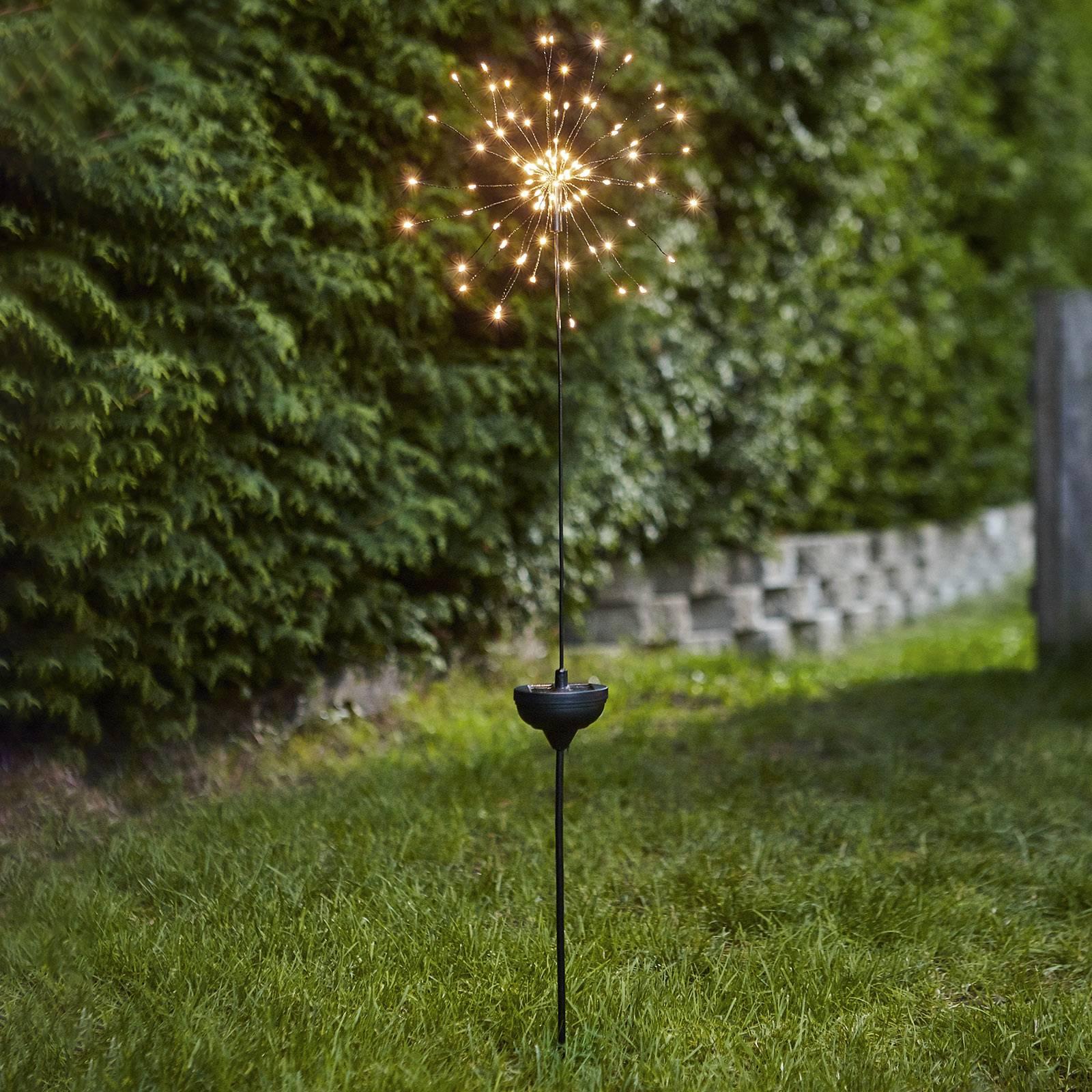 Aurinkokäyttöinen Firework -LED-lamppu, maapiikki