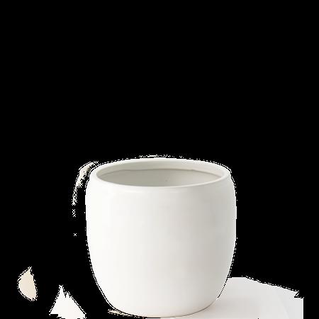 Krukke Glasert Keramikk 19,5 x 18 cm Hvit