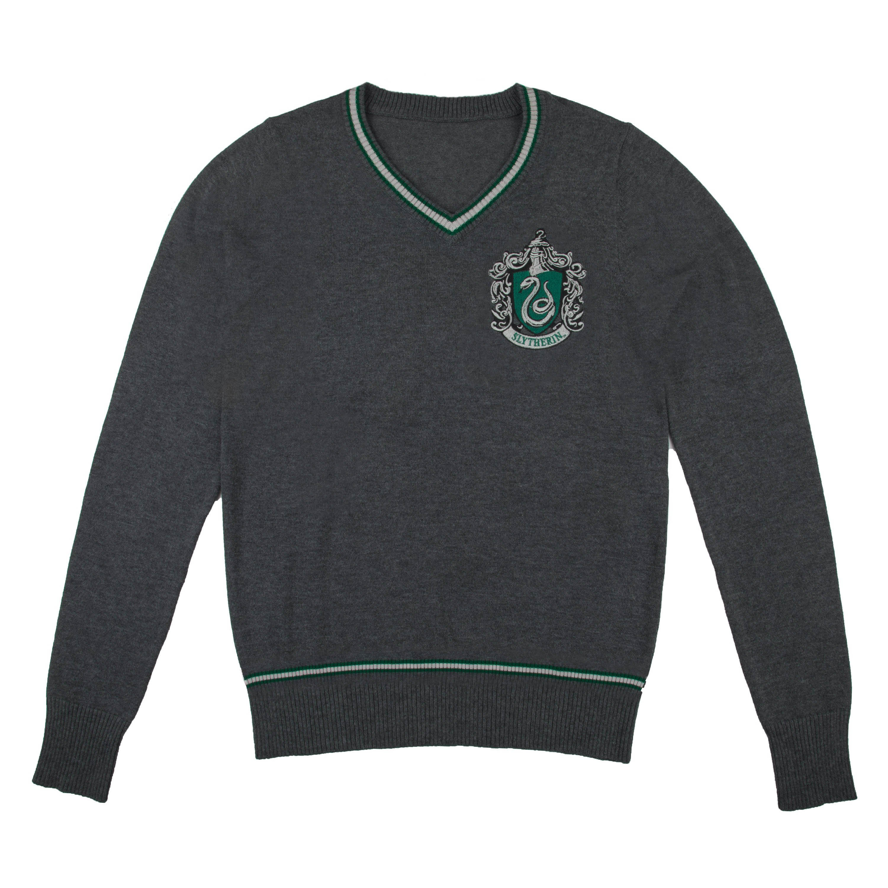 Harry Potter - Slytherin - Grey Knitted Sweater - Small