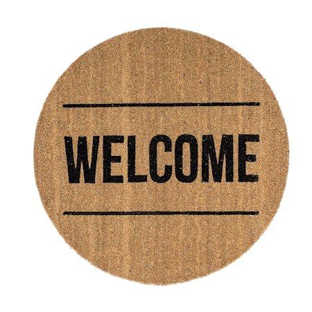 Dørmatte 'Welcome'Brun 70x1,5 cm