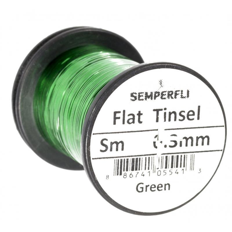 Semperfli Flat Tinsel Green Small