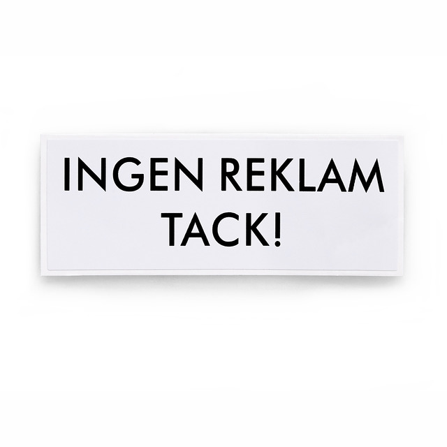 DEKAL 796 INGEN REKLAM VIT SB