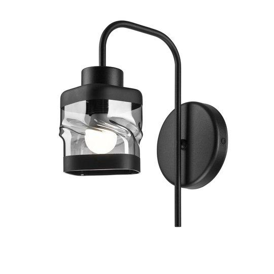 Vegglampe Thor, 1 lyskilde, svart
