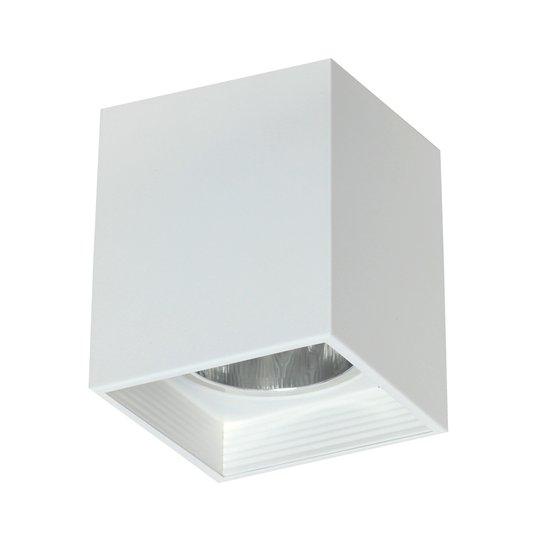 Taklampe Downlight square, hvit, bredde 9,2 cm