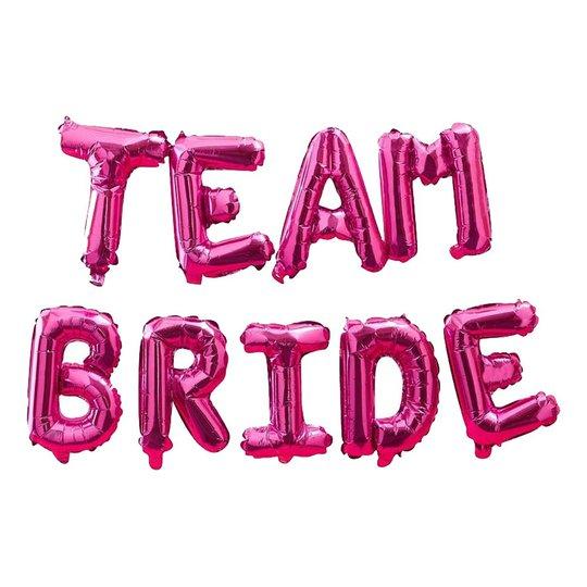 Ballonggirlang Team Bride Hot Pink