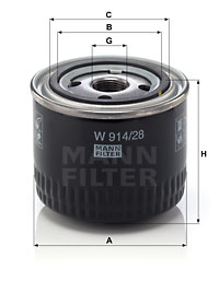 Öljynsuodatin MANN-FILTER W 914/28