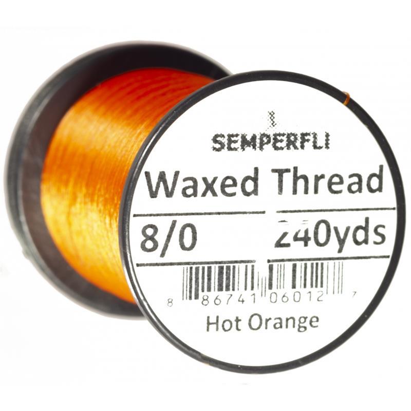 Semperfli Classic Waxed Thread Hot Orange 8/0