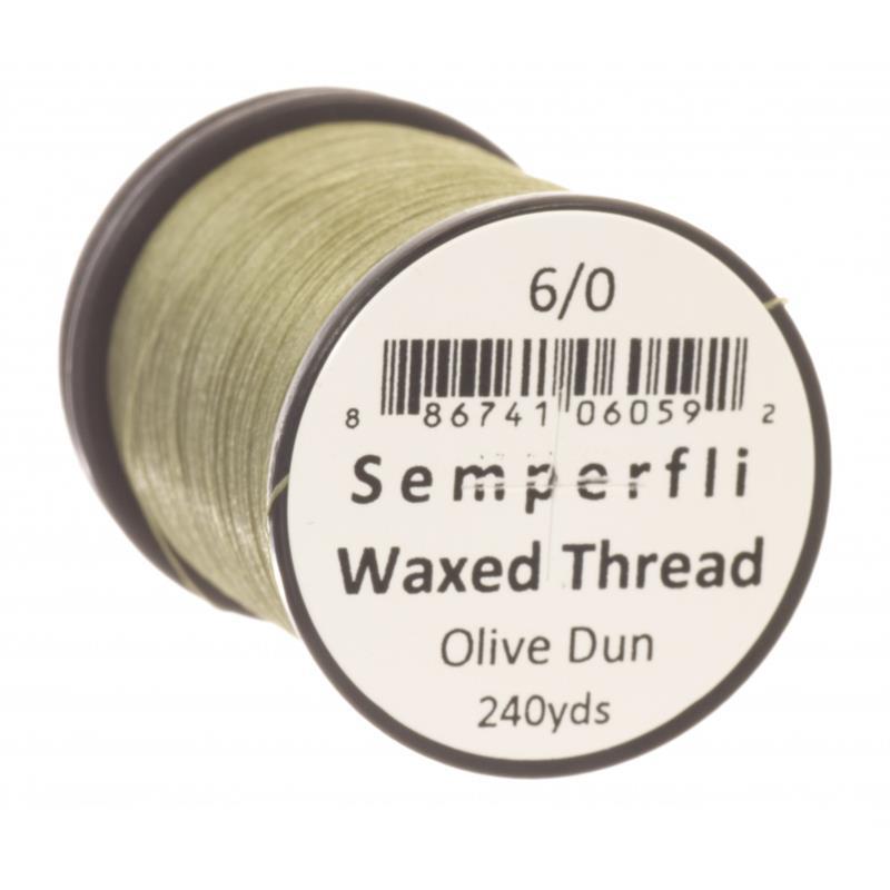 Semperfli Classic Waxed Thread Olive Dun 6/0