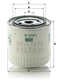 Öljynsuodatin MANN-FILTER W 916/1
