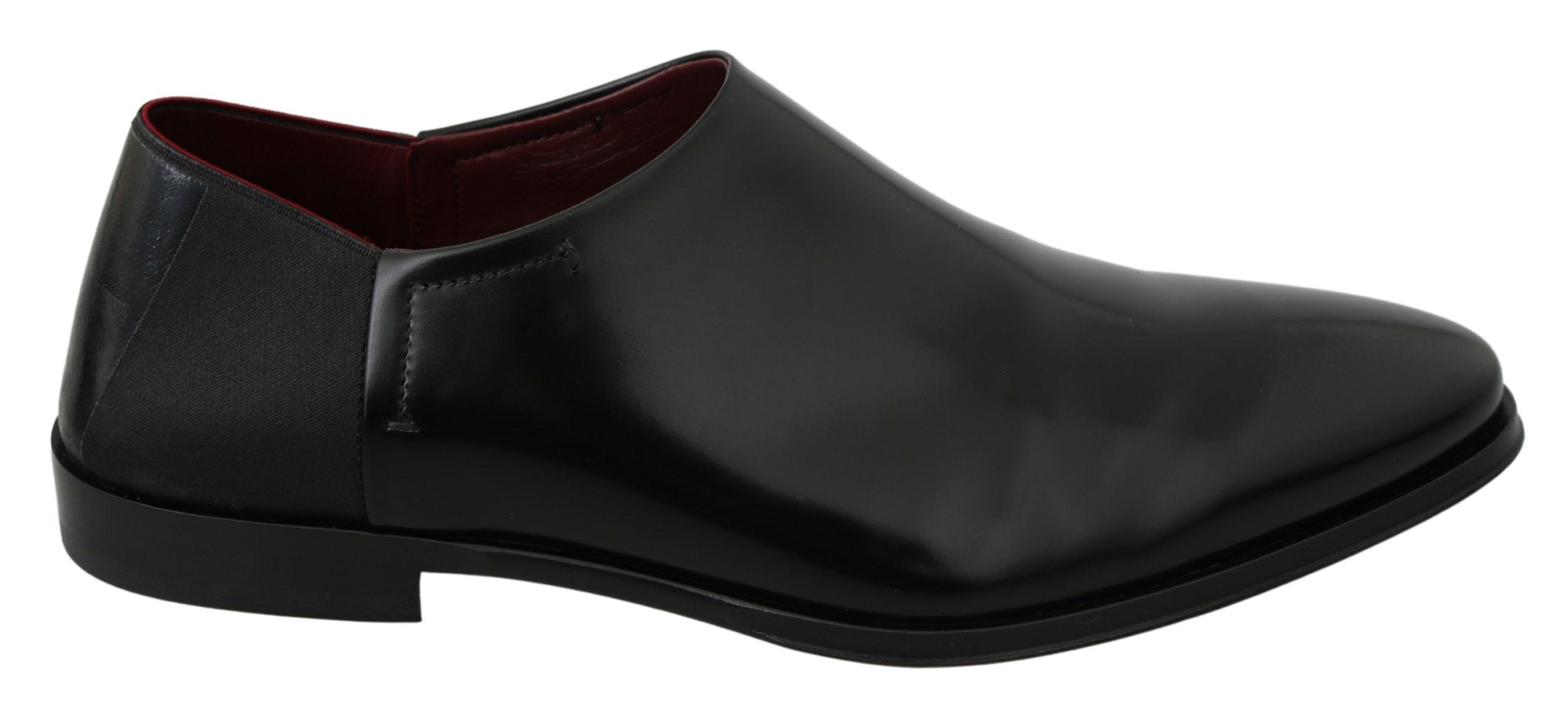 Dolce & Gabbana Men's Leather Formal Loafer Black MV2892 - EU42/US9