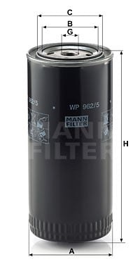 Öljynsuodatin MANN-FILTER WP 962/5