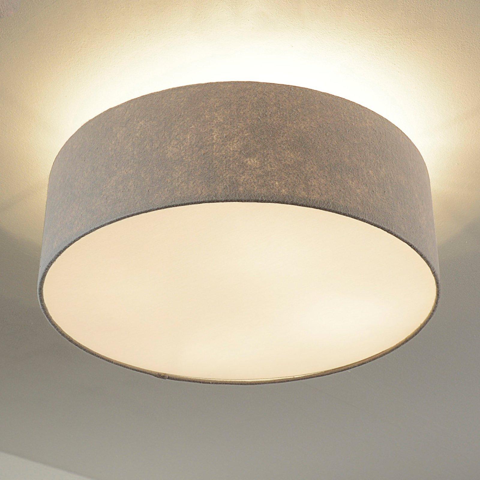 Taklampe,Gala, 50 cm, filtskjerm grå