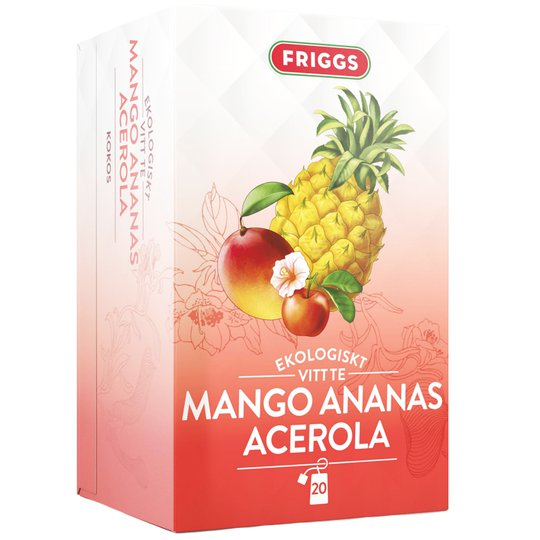 Eko Te Mango, Ananas & Acerola 36g - 63% rabatt