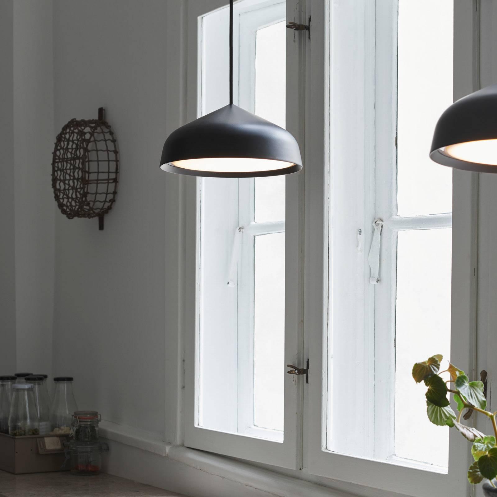 LED-riippuvalaisin Fura, 25 cm, musta