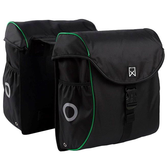 vidaXL Cykelväska 38 L svart och grön
