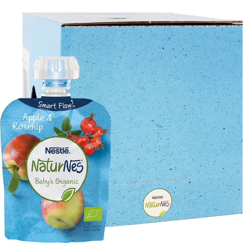 Eko Fruktpuré Äpple & Nypon 16-pack 4M - 50% rabatt
