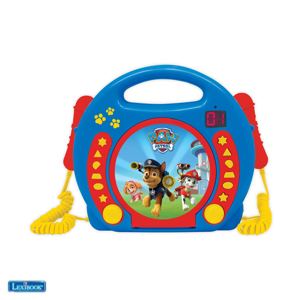 Lexibook - Paw Patrol Portable CD player with 2 Sing Along microphones (RCDK100PA)
