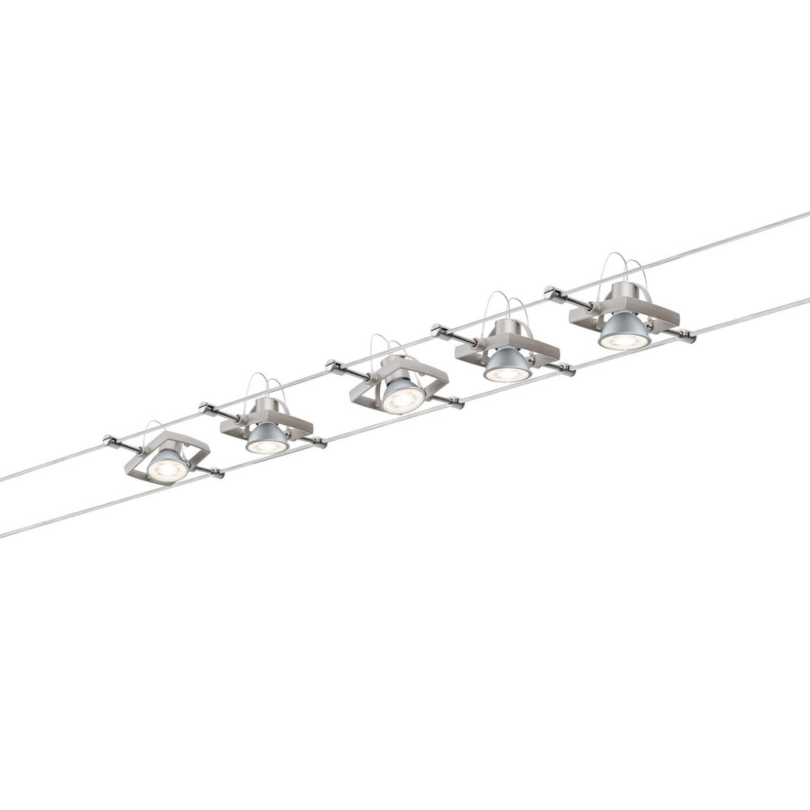 Paulmann Mac II -5-lamppuinen mattanikkeli