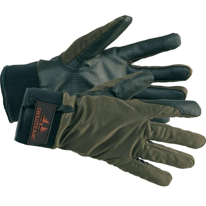 Swedteam Ridge Dry M Gloves L Lett foret hanske i Forest Green