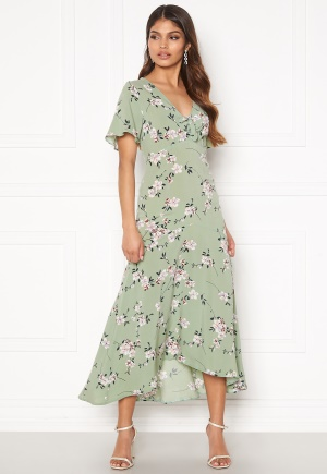 Happy Holly Therese dress Dusty green / Floral 48