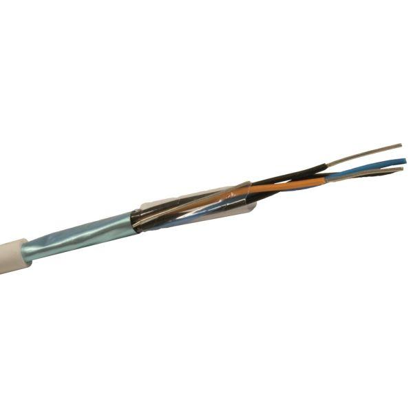 Nexans PTS-HF Telekaapeli 1x4x0.6 mm, valkoinen 1 m, katkaistu
