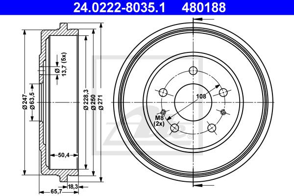 Jarrurumpu ATE 24.0222-8035.1