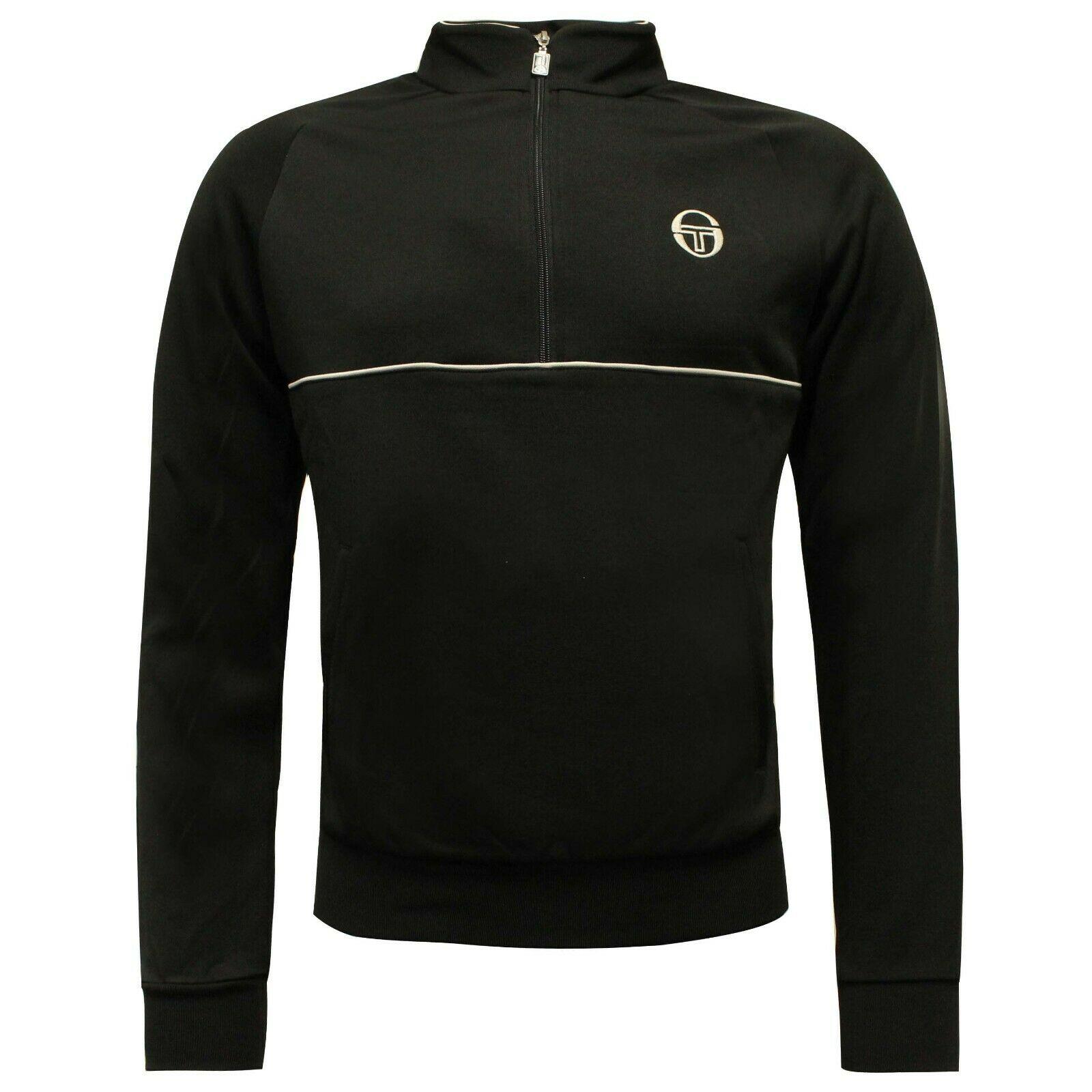 Sergio Tacchini Men's Orion Track Top Half Zip Black 37489 - S Black