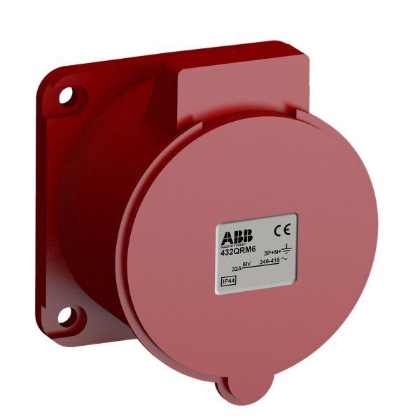 ABB 2CMA102385R1000 Paneluttak hurtigtilkoblet, vibrasjonsbestandig Rett, 5-polet, 32 A, 56x56 mm
