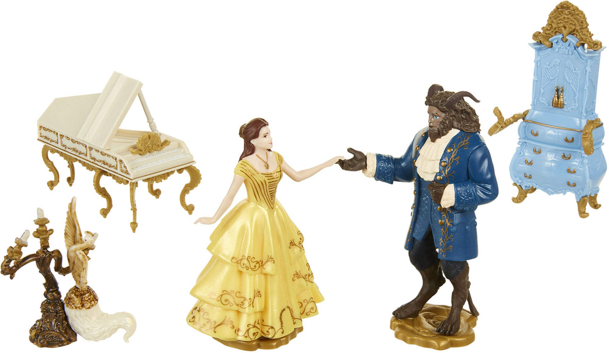 Disney Prinsessat Kaunotar ja Hirviö Figuurit