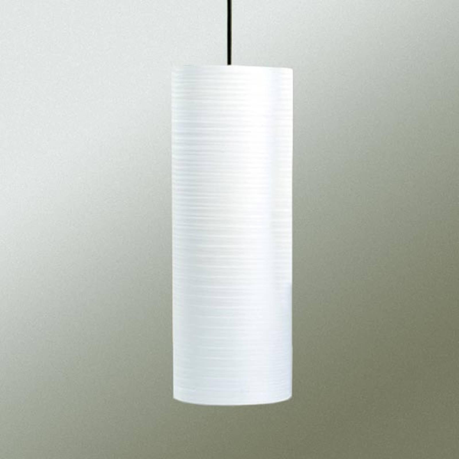 Tube pendellampe, 30 cm, hvit