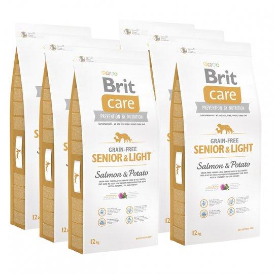Brit Care Dog Senior & Light Grain Free Salmon & Potato 6x12 kg