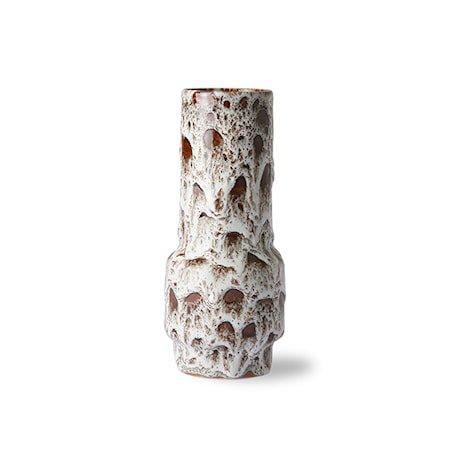 Retro Ceramic Vase Lava White