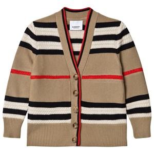 Burberry Icon Stripe Wool/Cashmere Kofta Archive Beige 3 years