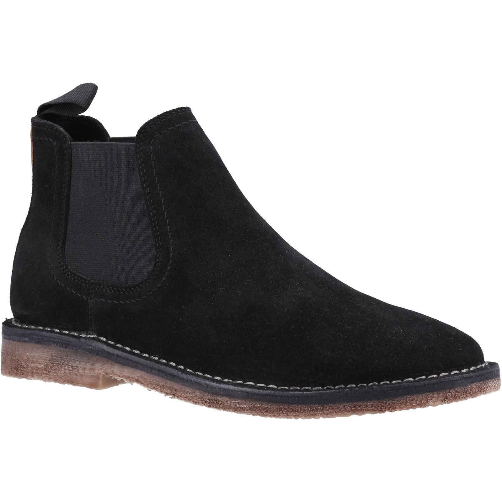 Hush Puppies Men's Shaun Leather Chelsea Boot Various Colours 32897 - Black 7